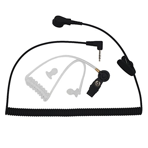 AOER Universal Listen-Only Acoustic Tube Headset Earpiece wi