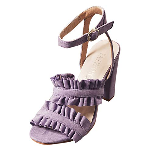 Dentelle Ouvert Pour Hauts Bout Bride À Sandales Lacets Talons Cheville Violet Avec Femmes En Chaussures La kinlene wtq8Zq1