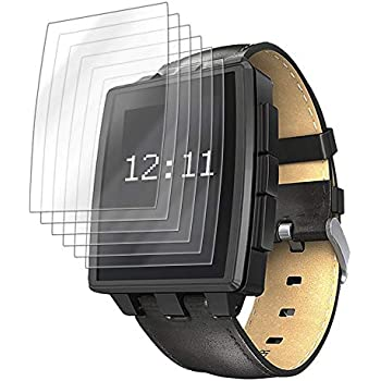 IQ Shield Screen Protector Compatible with Pebble Steel Smartwatch (6-Pack) LiquidSkin Anti-Bubble Clear Film