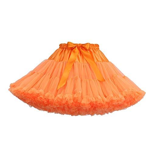 Sexy Ballet Casual Dansen Mode Rok Feestje Tuturokken Dames Kleur Zomer Effen Mini Oranje Vjgoal Tule pq6wtn