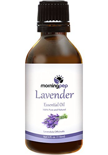 LAVENDER OIL 4 OZ by Morning Pep Large Bottle Pure And Natural Therapeutic Grade , Undiluted PREMIUM QUALITY Aromatherapy LAVENDER Essential oil (118 ML)
