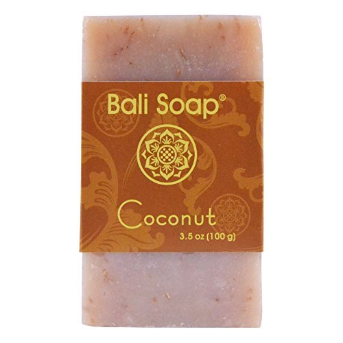 Bali Soap - Coconut Natural Soap Bar, Face or Body Soap Best for All Skin Types, For Women, Men & Teens, Pack of 12, 3.5 Oz each ()
