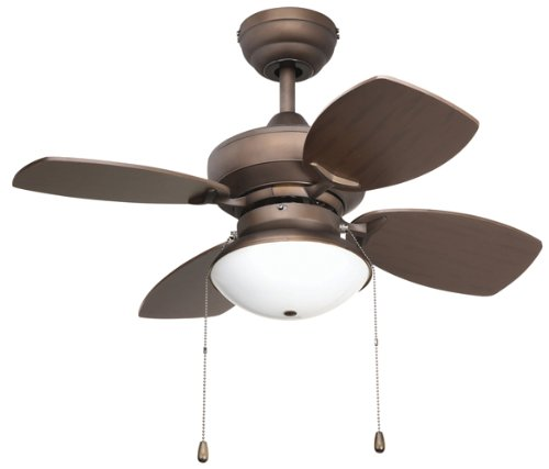 Yosemite Home Decor Hurricane-RB 28-Inch Ceiling Fan with Light Kit and Teak/Roman Bronze blades, Oil Rubbed Bronze, Appliances for Home