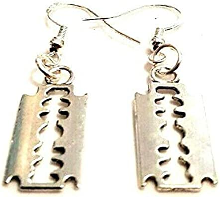 25 Pcs 16mm Tibetan Silver Razor Blade Punk Gothic Jewellery Craft Beading C92