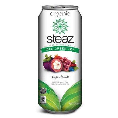 STEAZ BEV TEA ICED SUPER FRUIT, 16 FO