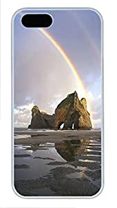 iPhone 5 5S Case Landscapes rainbow PC Custom iPhone 5 5S Case Cover White