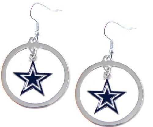 Hoop Earrings Nfl - aminco NFL Dallas Cowboys Charm Hoop Earring Set