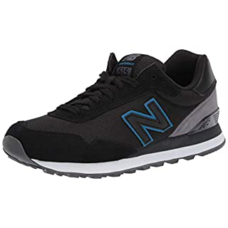 New Balance Men's 515 V1 Sneaker, Black/Magnet, 7.5 XW US