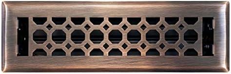 Floor Vent Covers Size Empire Register Co Honeycomb Design 3.5 x 11.5 inch Antique Copper Finish Overall Face Size 2 x 10 inch Heavy Duty Floor Register