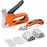 THINKWORK Heavy Duty Staple Gun, 4 in 1 Staple Gun for Upholstery with 4000 Staples, Nail Gun for Wood, Cable, Fabric, Wall, Material Repair, DIY Manual Stapler