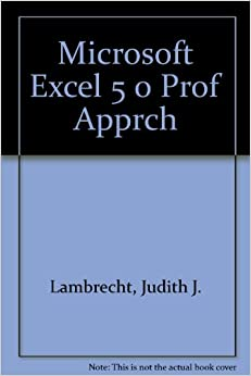 Microsoft Excel 5 0 Prof Apprch