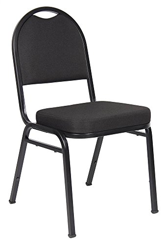 Boss Office Products B1500-BK-4 Crepe Banquet Chair 4 Pack in Black -
