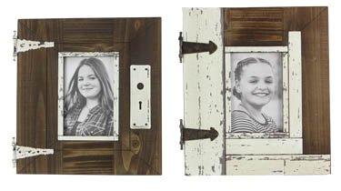 Assorted Wood 4X6 Barn Photo Frames - Set of 2