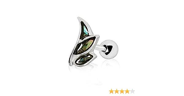 DyaniJewel Stainless Steel Angel Wing Mini Abalone Shell Cartilage Earring
