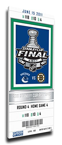 That's My Ticket 2011 NHL Stanley Cup Final Commemorative Mega Ticket Wall Decor, Vancouver Canucks