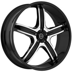 Akuza Lever 26 Black Wheel / Rim 5x5 & 5x135 with a 15mm Offset and a 87 Hub (26inch Car Rims)