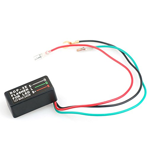 Flasher Wiring Relay (3-Pin Electronic LED Flasher Relay FIX Car Motorcycle ATV Turn Signal Bulbs Hyper Flash)