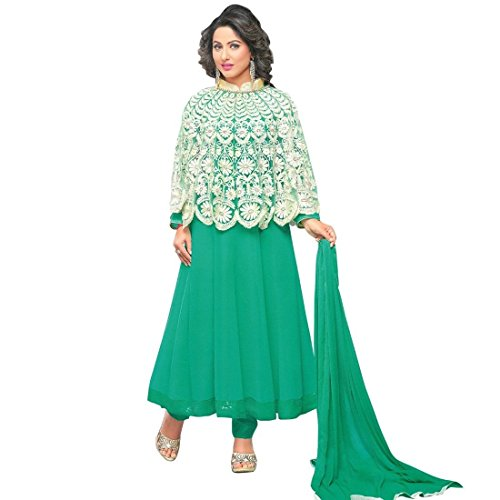 Bollywood Wedding Embroidered Ready made Salwar Kameez Indian – 0X, Green