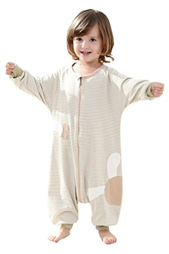 Poliking Unisex Baby Organic Cotton Zipper Footed Sleeper Coverall Pajamas Baby Nightgowns (M, Green) (Nightgown Order)