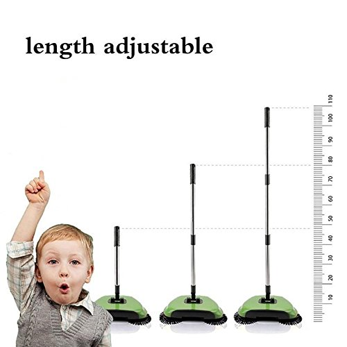 BPG Spin Broom/Sweeper, As Seen on TV.Lightweight Cordless Spinning Broom for Sweeping Hard Surfaces Like Wood, Tiles and Concrete. 3-in-1 Non-Electricity Lazy Push Dust Collector. (Random Color) by BPG (Image #9)