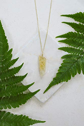 - Citrine point necklace in gold plate - 18