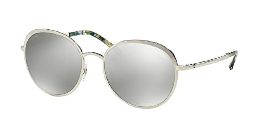 Amazon.com: Chanel CH4206 C1246G 55-18 Argent Medium Miroirs ...