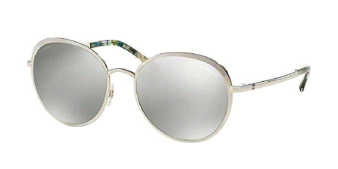 Chanel - Gafas de sol - para hombre Plateado plata: Amazon ...