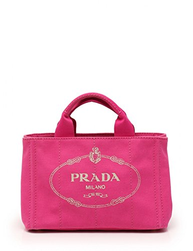 (プラダ) PRADA CANAPA カナパ トートバッグ キャンバス ピンク BN2439 中古 B07DLCS9RP