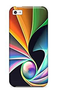 New Style AmandaMichaelFazio Hard Case Cover For Iphone 5c- Bright Colorful Abstract Art