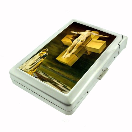 Salvador Dali Crucifixion Body Double-Sided Cigarette Case with lighter, ID Holder, and Wallet - Case Cigarette Dali Salvador