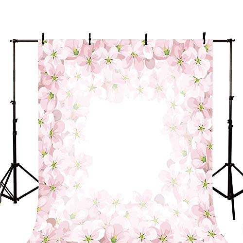 "Floral Stylish Backdrop,Romantic Apple Flower Petals Blooms Nature Essence Beauty Bouquet Image for Photography,118"" W x 236.2"" H"