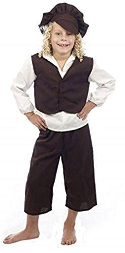 Glossy Look Big Boys' Victorian Outfit Fancy Dress Book Day Costume Large (10-12) White -