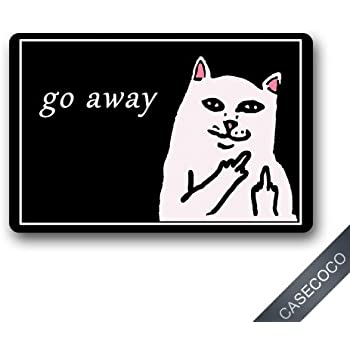 Amazon Com Custom Go Away Cat Doormat Door Welcome Mat