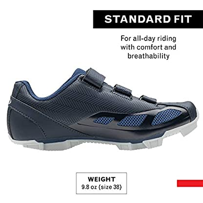 Louis Garneau Women's Multi Air Flex Bike Shoes for Indoor Cycling, Commuting and MTB, SPD Cleats Compatible with MTB Pedals, Mat Black Navy, US (6.5), EU (37)