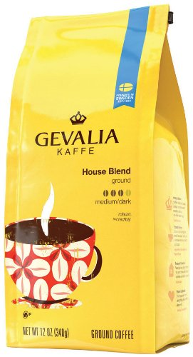 Gevalia House Blend Roast and Ground, 12-Ounce Packages (Pack of 2)