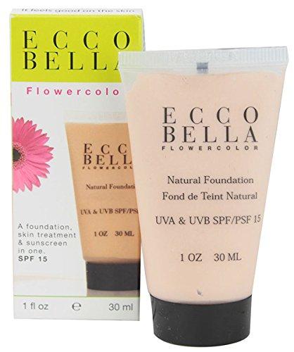 Ecco Bella FlowerColor Liquid Foundation SPF 15, Light Beige, 1 fl oz.