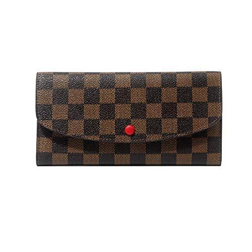 RFID Wallets for Women, Ladies Travel Slim Bifold Leather Wallet (Brown)