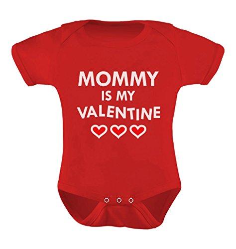 TeeStars - Mommy is My Valentine Infant Baby Bodysuit 18M Red