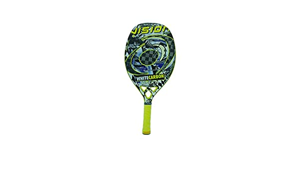 Vision Pala de Tenis Playa White Carbon UNIKA 2019: Amazon.es ...