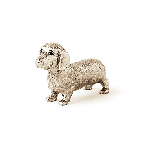 Dachshund Wire Coat Made in UK Artistic Style Dog Figurine Collection - Dog Coats Uk