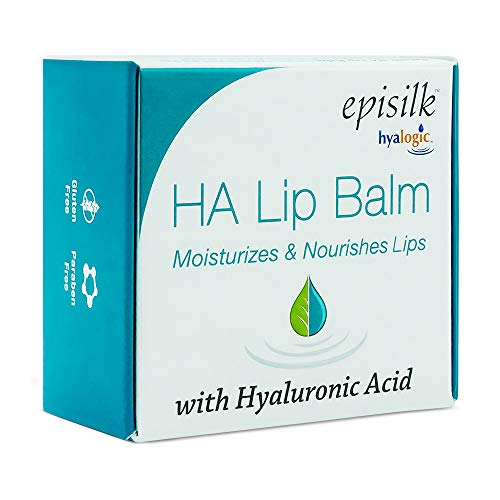 Hyalogic Episilk Natural Moisturizing Lip Balm w/Hyaluronic Acid to Plump and Hydrate. Clean Lip Treatment Formula for Dry Lips. Gluten Free, Fragrance Free & Unflavored (14g/15ml/0.5oz)