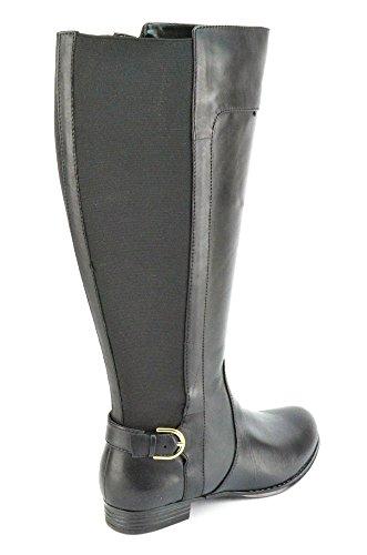 Isaac Mizrahi Levende Toby Womens Brune Skinnridestøvler Widecalf Svart