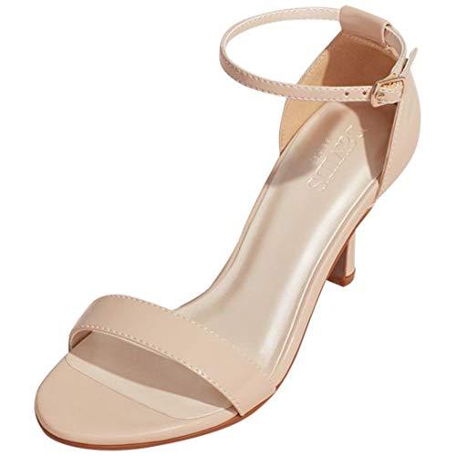 David's Bridal Single Strap Sandal Style Nayomi, Nude, 11W (Dyeable Shoes Size 11)