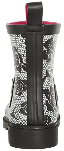 New York White Black Printed Ladies Rain Short Boot Capelli Umbrella gd5BZqdw