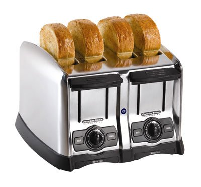 Hamilton Beach 24850 Hamilton Beach 4 Slice Extra-Wide Slot Commercial Toaster, Chrome, 120 Volts