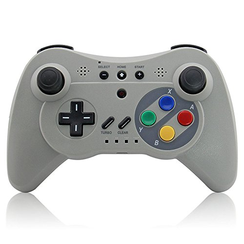 Wireless 3 Pro Controller Gamepad for Nintendo Wii U- White Bluetooth | Dual Analog Joystick by Mario Retro