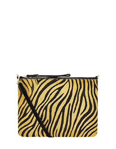 Accessorize Tiger Print Claudia Leather Cross Body Bag Leather