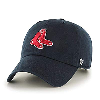 47' Brand Boston Red Sox Clean Up Hat Cap Strapback Navy/Red