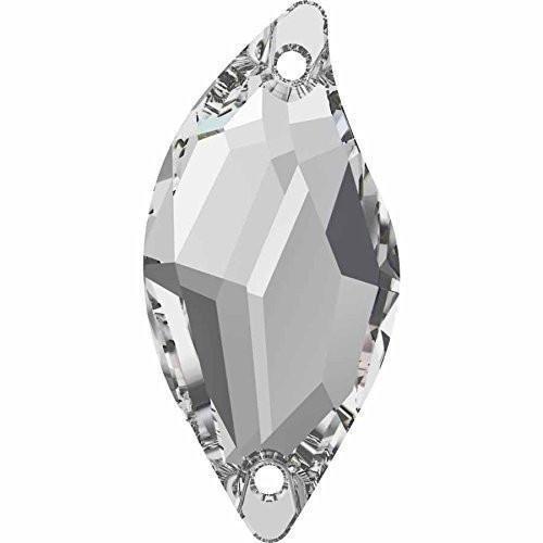 n Crystals Diamond Leaf | Crystal | 30mm - Pack of 36 (Wholesale) | Small & Wholesale Packs ()