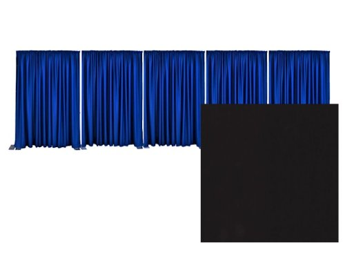 Pipe and Drape Premier Backdrop Kit 8 ft. x 50 ft. - Black by P.D.O.